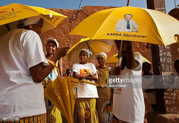 Supporters of popular Tuareg Candidate Karada Aboubacar on the streets on October 2 2009 in Agadez Niger This is the first year in history where...