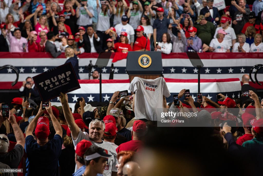 President Donald Trump Holds Campaign Rally In Phoenix : News Photo