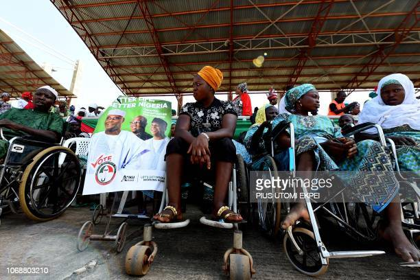 Supporters of presidential candidate of the Nigeria's opposition party Peoples Democratic Party Atiku Abubakar attend a campaign rally in Ilorin...