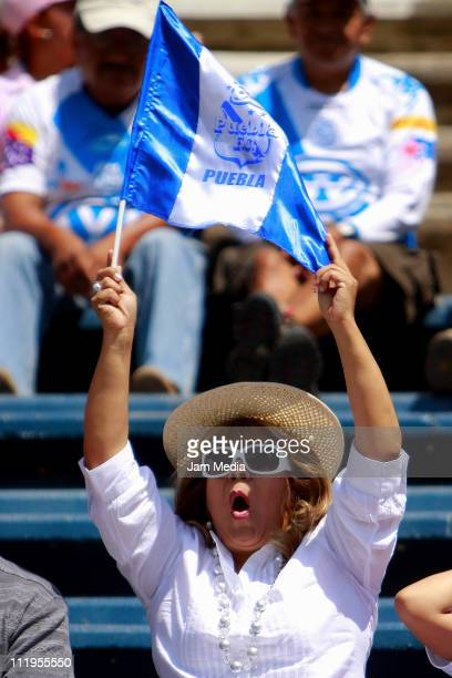 Supporters of Puebla before the match against Toluca as part of the Clausura Tournament at Cuauhtemoc Stadium on April 10 2011 in Puebla Mexico