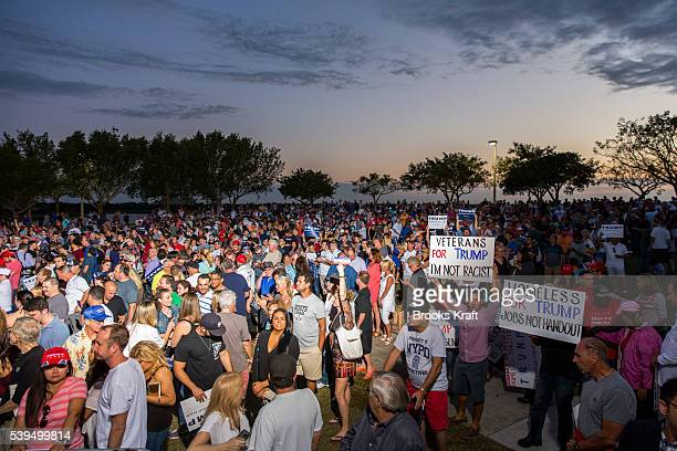 Supporters of Republican Presidential candidate Donald Trump at a campaign rally March 13 2016 in Boca Raton FL nnnn