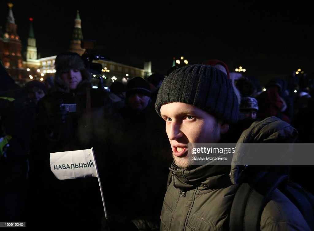 Supporters of Russian Opposition Leader Alexei Navalny Attend A Rally In Moscow