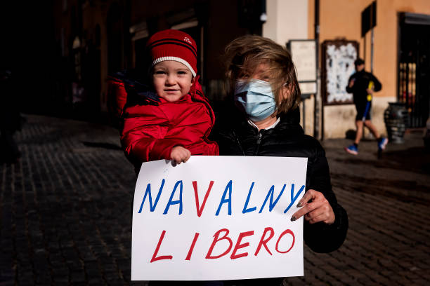ITA: Demonstrations In Support Of Alexei Navalny Held In Rome To Demand His Release From Russian Prison