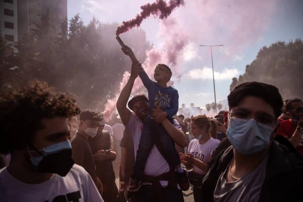 ITA: Salernitana Soccer Team Supporters Celebrating Results