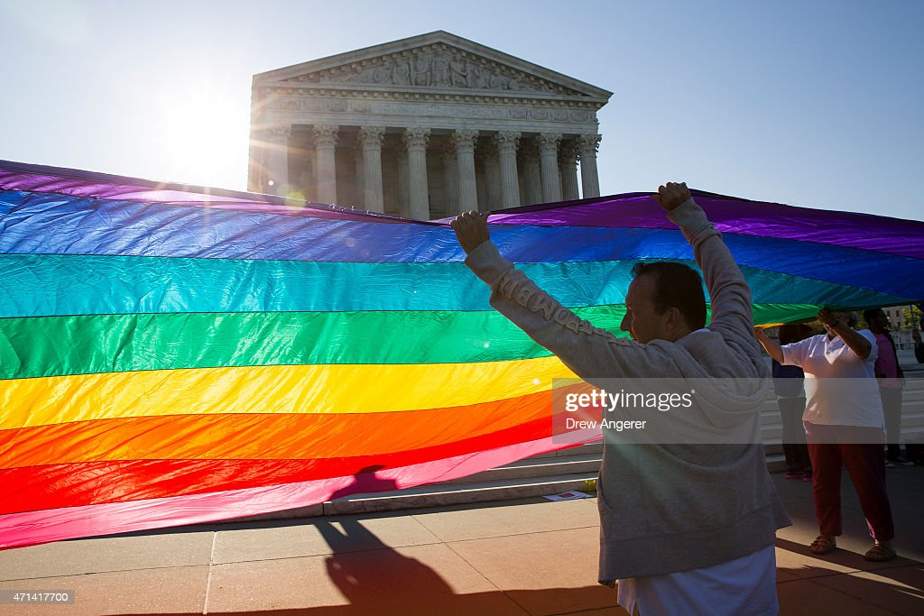 Supreme Court Hears Arguments In Historic Marriage Equality Case : News Photo