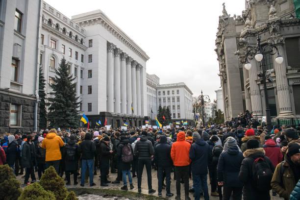 UKR: Rally Near The Presidential Administration In Kyiv, Ukraine