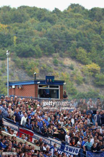 Supporters of Sheffield Wednesday watch the Sky Bet Championship match between Sheffield Wednesday and Sheffield United at Hillsborough on September...