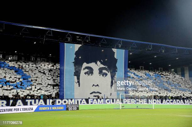 Supporters of SPAL attend the Serie A match between SPAL and US Lecce at Stadio Paolo Mazza on September 25 2019 in Ferrara Italy