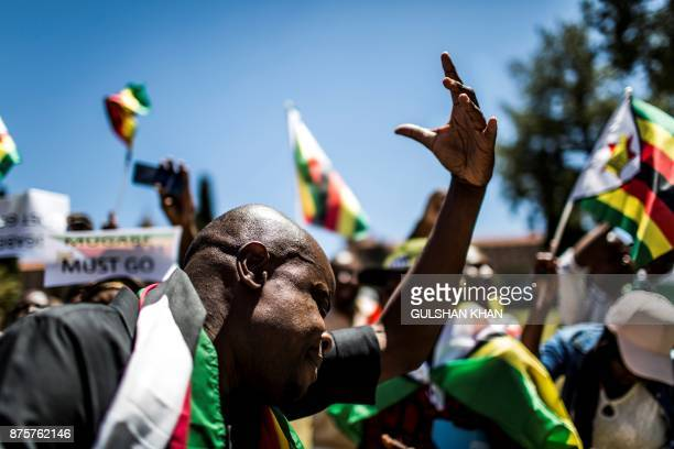 Supporters of Tajamuka Sesijikisile SA The African Democrats Opposition Party the Zimbabwe Communist Party the Zimbabwe Diaspora Coalition and other...