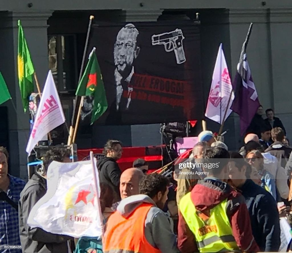 PKK sympathizers' rally targets Erdogan in Bern : News Photo