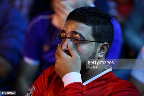Supporters of the AlAhli's football team Reacts in Down Town Cairo Egytp on 4 November 2017 after AlAhli lose the African Champions League 2017 wydad...