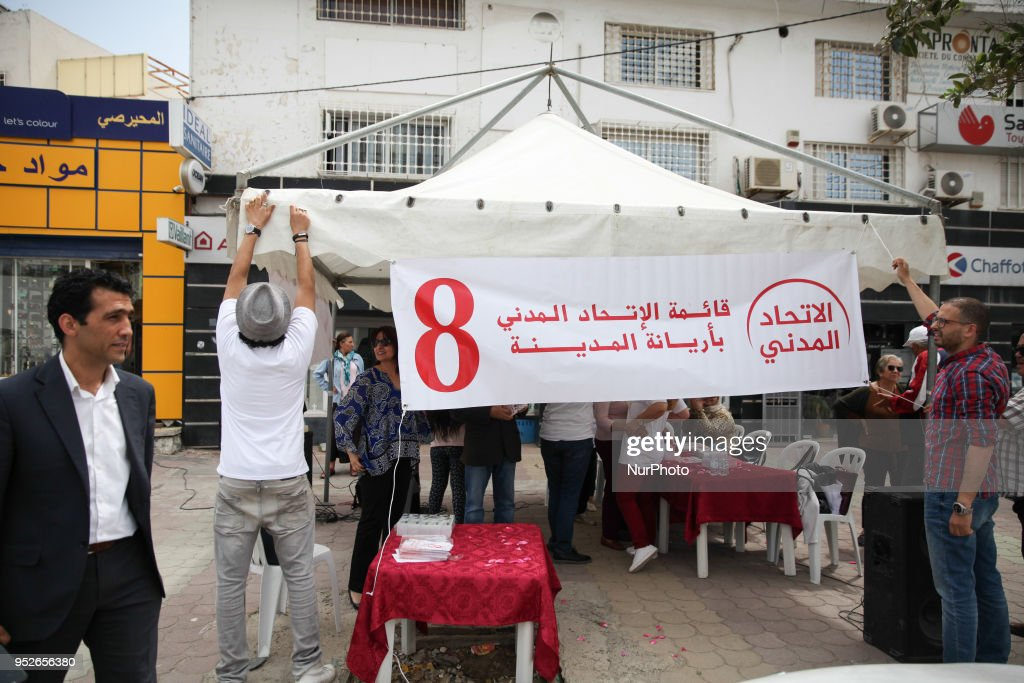 Political Parties Campaign In Tunisia : News Photo