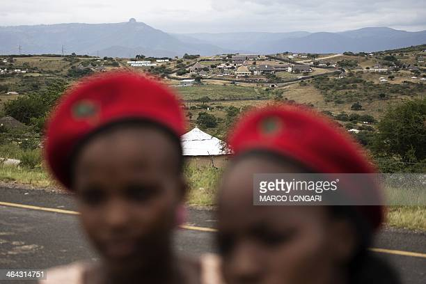 Supporters of the Economic Freedom Fighters the South African opposition party founded by former African National Congress Youth League leader Julius...