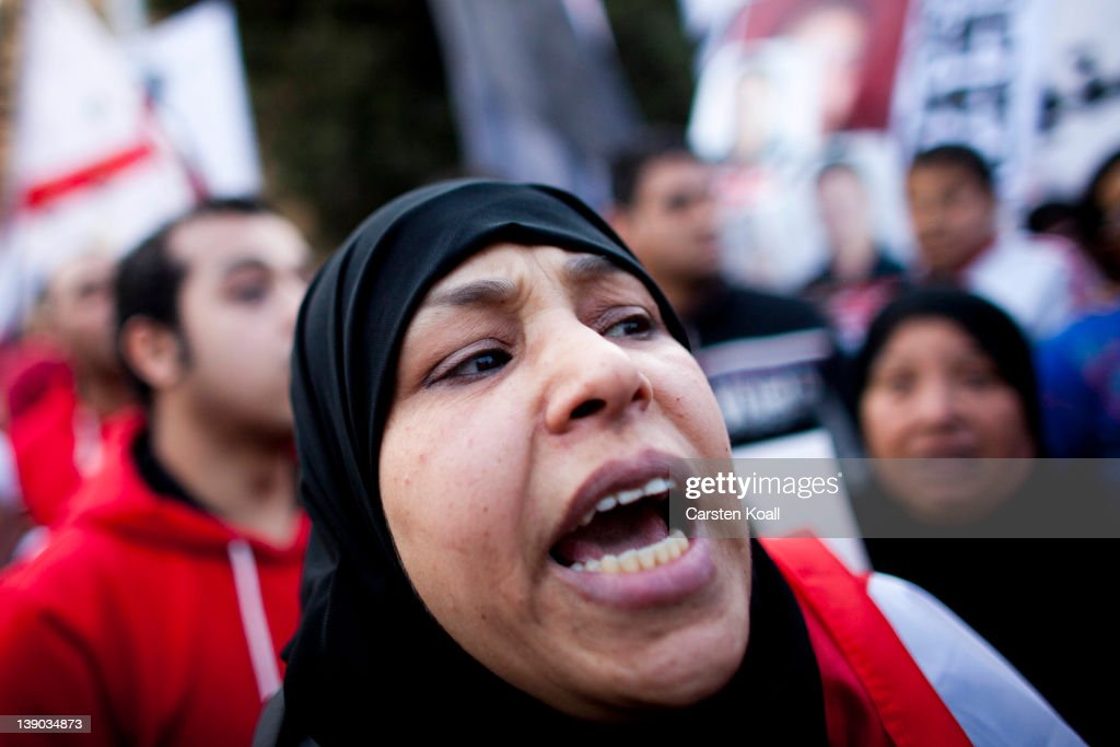 Protesters In Cairo Commemorate Fottball Stadium Victims : News Photo