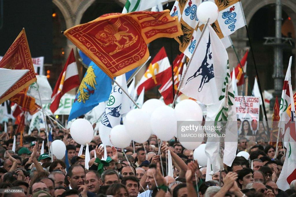 ITALY-IMMIGRATION-DEMO-LEGA NORD : News Photo