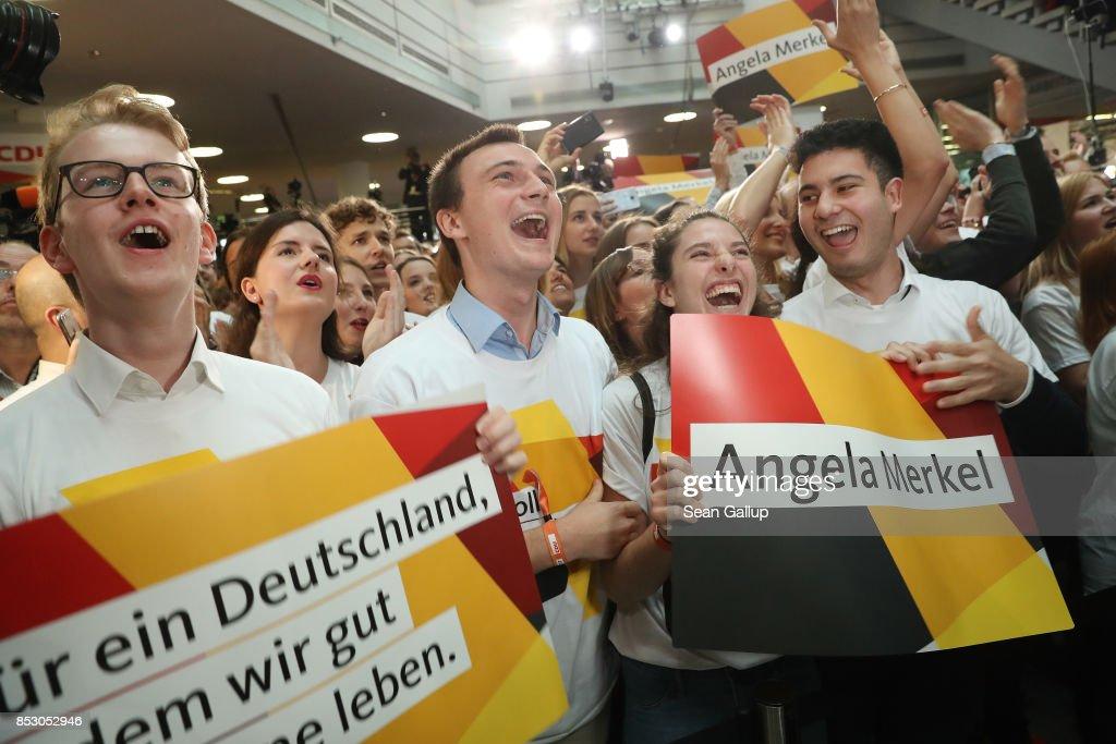 Election Night: Christian Democrats (CDU) : News Photo