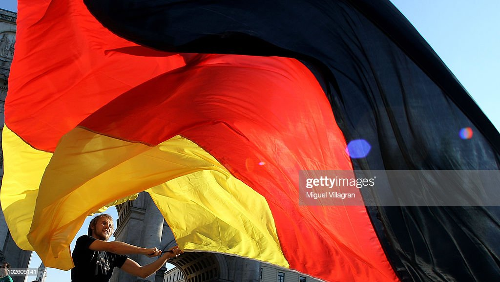 Supporters of the German football team celebrate Germany's victory on the streets after the 2010 FIFA World Cup quarter final match between Germany and Argentina on July 3, 2010 in Munich, Germany. Germany won 4:0.
