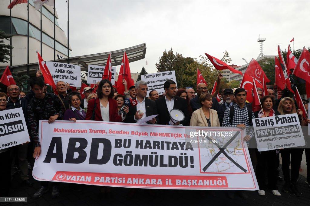 TURKEY-SYRIA-US-KURDS-CONFLICT-DEMO : News Photo
