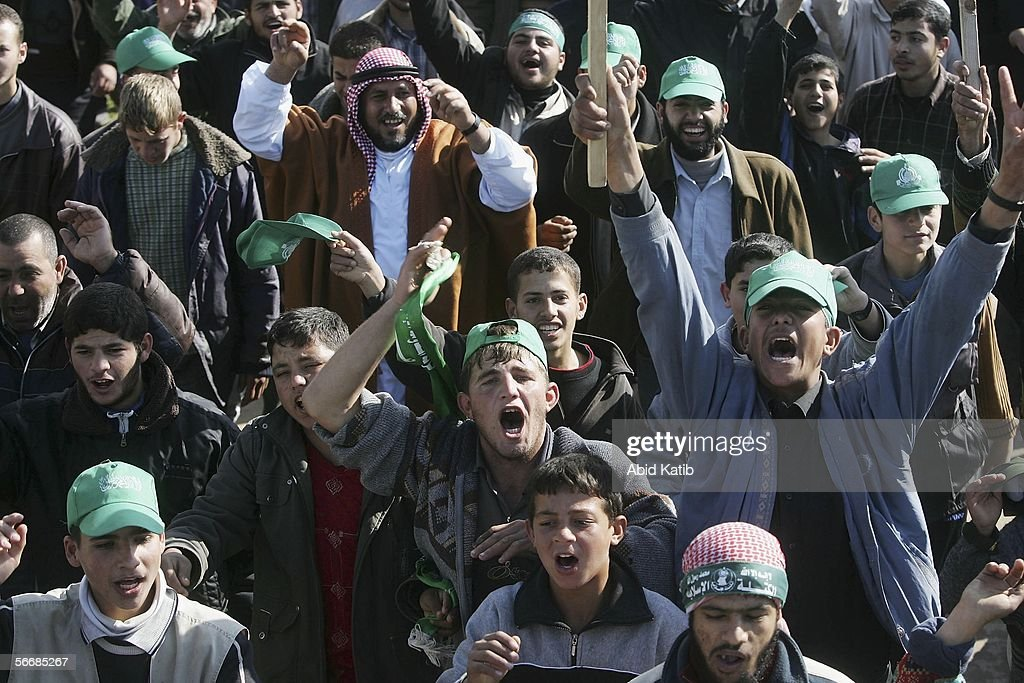 Hamas Celebrate Palestinian Election Victory : News Photo