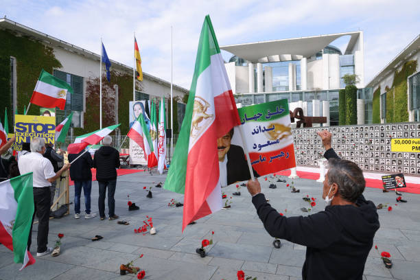 DEU: Iranian Opposition Protests In Berlin Against Ebrahim Raisi