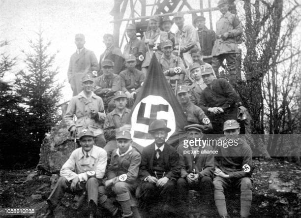 Supporters of the newly founded Nazi Party in Rothselberg Germany 1925 Photo Berliner Verlag / Archive