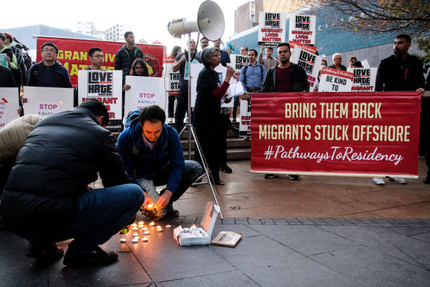 NZL: Protesters Rally In Support Of Migrants Ahead Of Parliamentary Immigration Debate