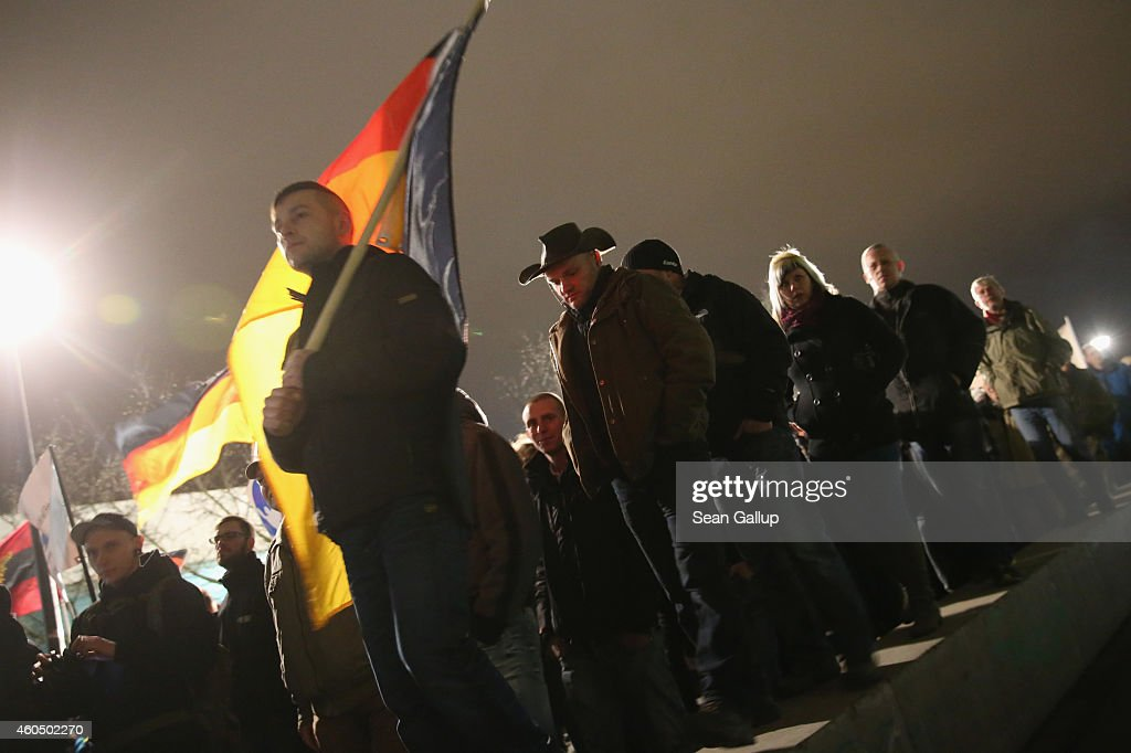 Pegida Demonstrations Continue In Dresden : News Photo