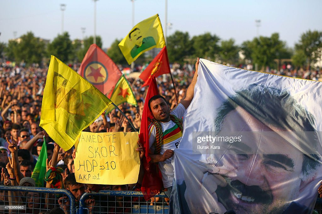 Pro Kurdish Party HDP Hold A Celebration Rally After Success In The Turkish Elections : News Photo