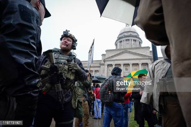 Supporters of the Second Amendment gather at the Capitol Building on January 31 2020 in Frankfort Kentucky Advocates from across the state gathered...