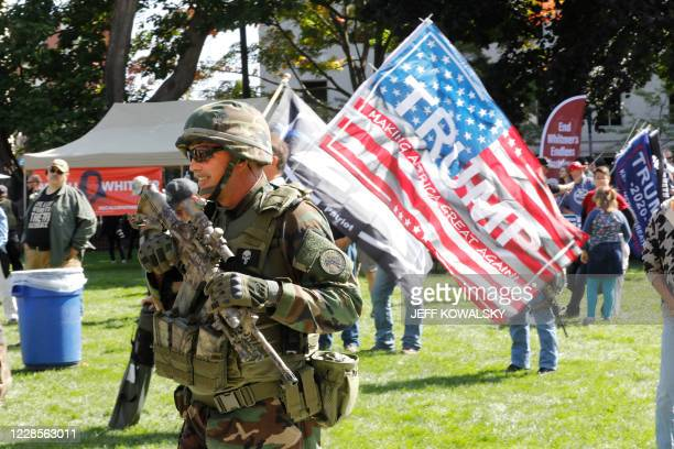 Supporters of the Second Amendment to the United States Constitution gather as they hold their annual march, for the right to bear arms, at the...
