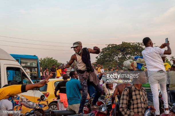 Supporters of the Union for Democracy and Social Progress and Democratic Republic of Congo President Felix Tshisekedi gather in Kinshasa on December...
