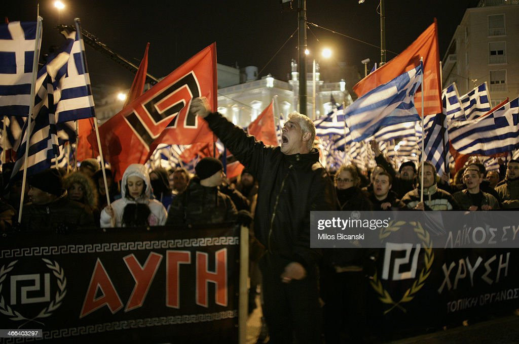 Golden Dawn protest In Athens : News Photo