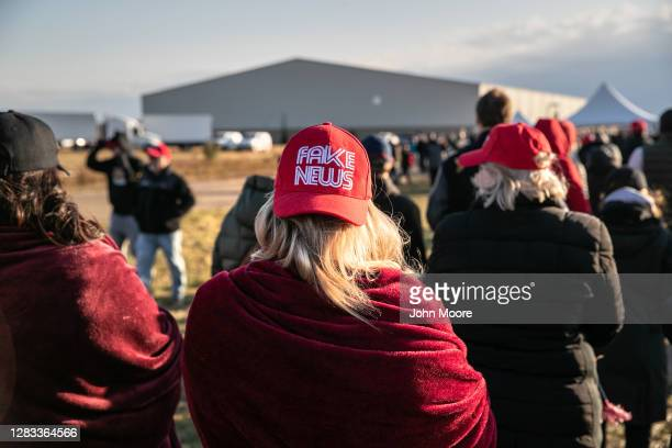 Supporters of U.S. President Donald Trump arrive at a Trump campaign rally on November 01, 2020 in Washington, Michigan. Only days before the U.S....