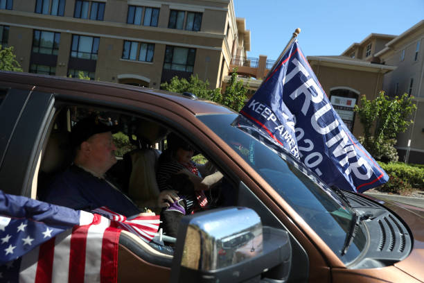 CA: Pro-Trump Activists Rally In Support Of The President's Re-Election Bid
