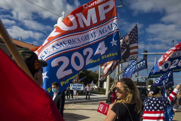 FL: President Trump Makes Mar-A-Lago Home As Joe Biden Is Inaugurated