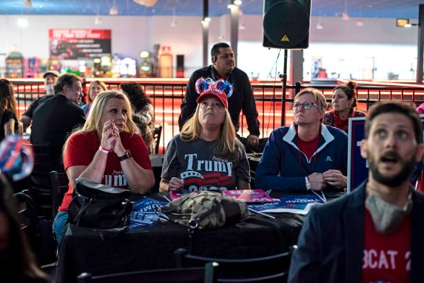 USA: Americans Watch As Results Come In On Election Day