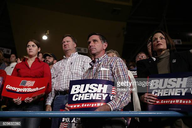Supporters of US President George W Bush attend a campaign election rally in Wisconsin October 30 2004