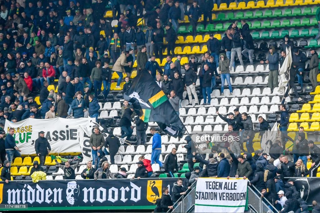 Supporters Of Vak Midden Noord Of Ado Den Haag Arrive In The 12th News Photo Getty Images