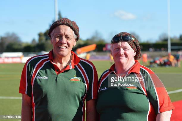 Supporters of Wairarapa Bush during the round two Heartland Championship match between Wairarapa Bush and Thames Valley on September 1 2018 in...