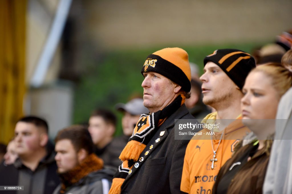 Supporters of Wolverhampton Wanderers during the Sky Bet Championship match between Wolverhampton and Queens Park Rangers at Molineux on February 10, 2018 in Wolverhampton, England.