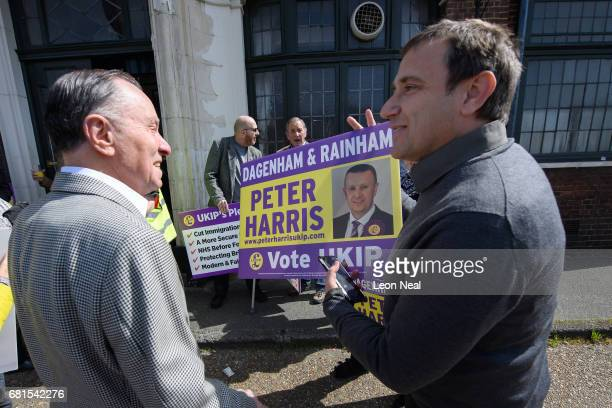 Supporters prepare for the arrival of party leader Paul Nuttall on May 10, 2017 in Dagenham, England. Following disappointing results in last week's...