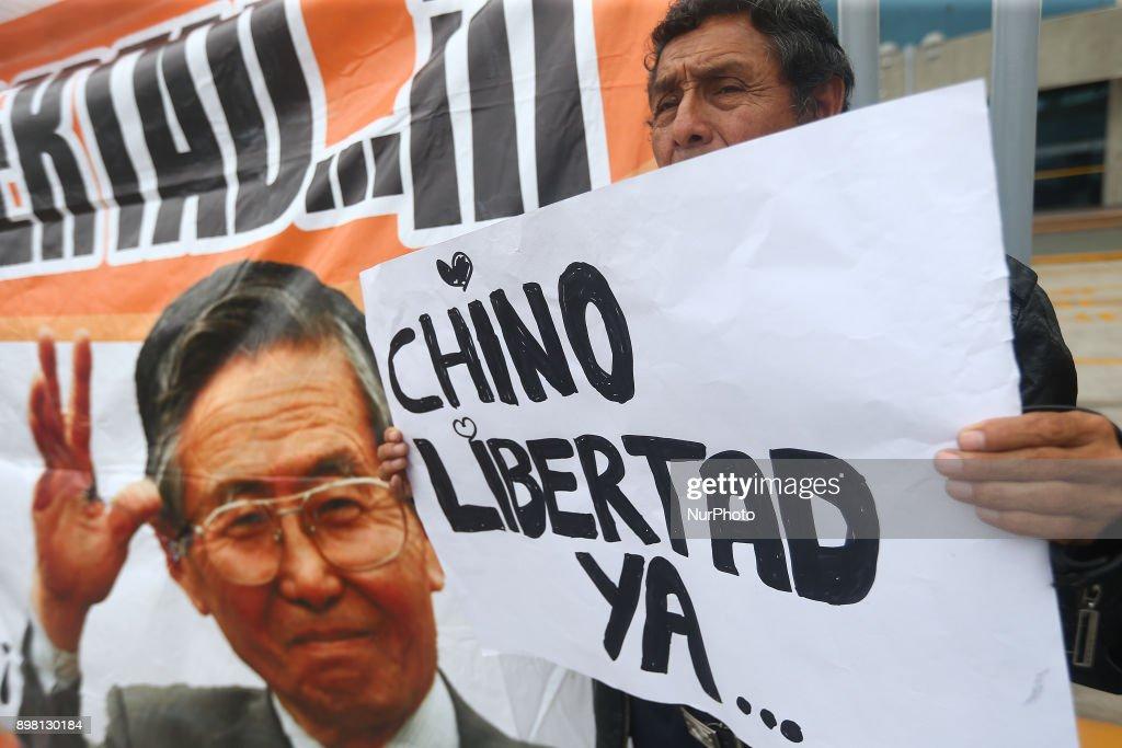 Vigil for recovery of former President Alberto Fujimori : Fotografía de noticias