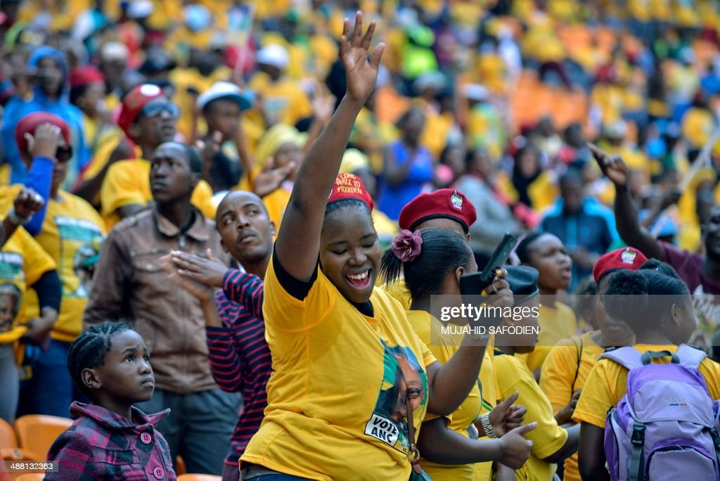 SAFRICA-POLITICS-VOTE-ANC-RALLY : News Photo