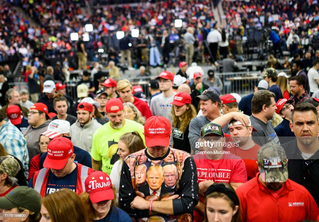 President Trump Holds Campaign Rally In Minneapolis : News Photo