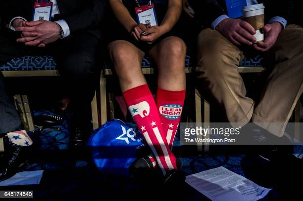 HILL MD Supporters wait for President Donald Trump to speak to a packed ballroom during the CPAC conference at the Gaylord Hotel and Convention...