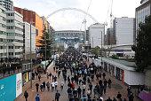 london england supporters walk towards wembley