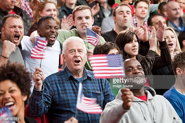 USA et drapeaux supporters