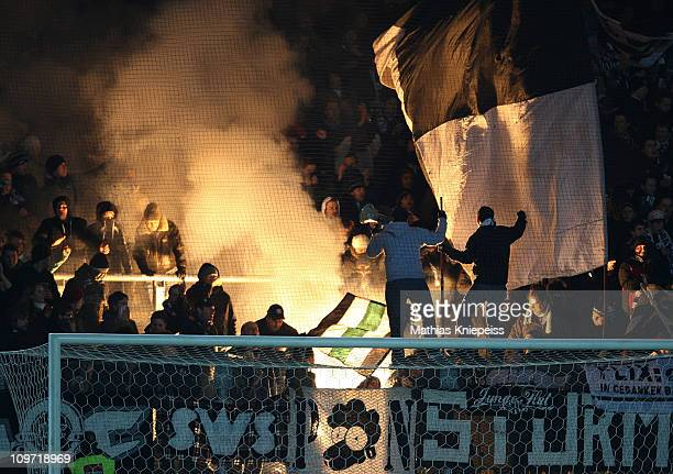 Supportes of Sturm Graz celebrates during the tipp3Bundesliga powered by TMobile match between FK Austria Wien and SK Puntigamer Sturm Graz at...