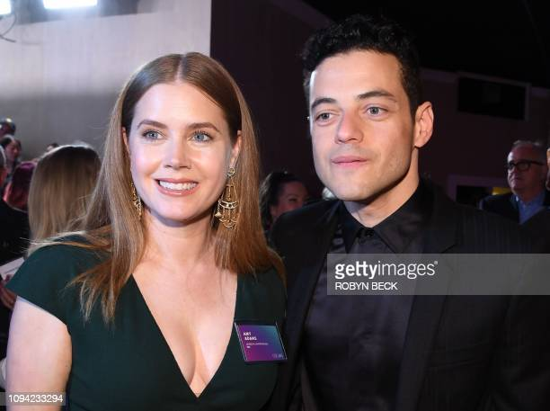 Supporting Actress nominee for Vice Amy Adams and Lead Actor nominee for Bohemian Rhapsody Rami Malek attend the 91st Oscars Nominees Luncheon at the...