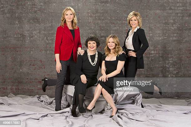 Supporting actress round table actresses Isabella Rossellini Jane Fonda Jennifer Jason Leigh and Joan Allen are photographed for Los Angeles Times on...